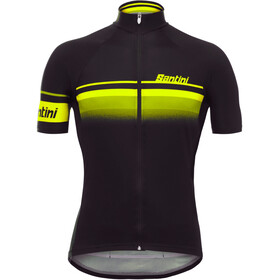Santini Mare Maillot de cyclisme Homme, black/yellow fluo